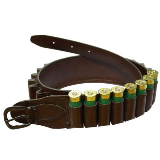 Cartridge Belt Brown Leather