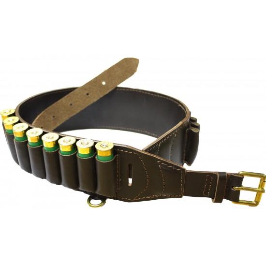 Cartridge Belt Deluxe Brown Leather