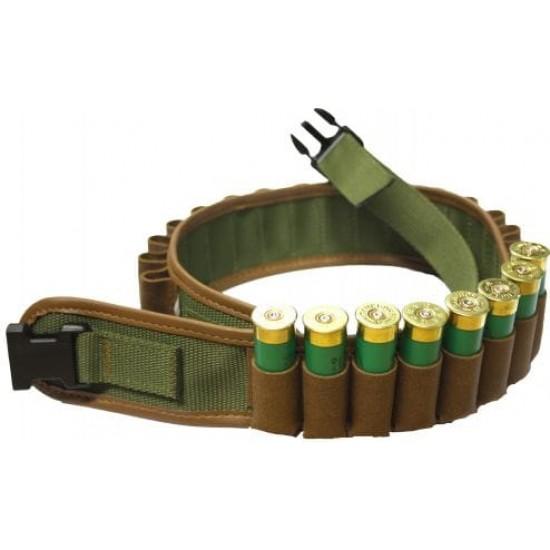 Cartridge Belt Leather on Webbing