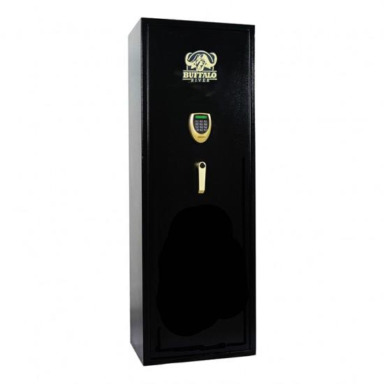 Buffalo River Gun Cabinet Gold Line with LCD 14 Gun 2mm Wall / 3mm Door