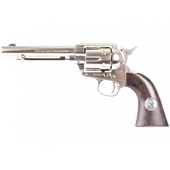 Colt John Wayne Nickel Finish .177 Pellet CO2 Revolver