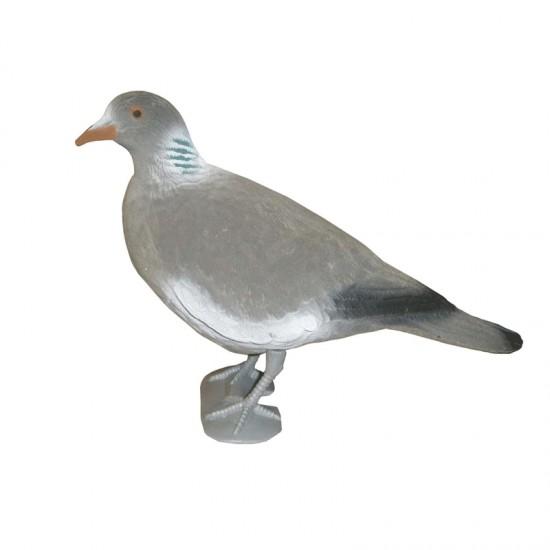 Bisley Flocked Pigeon with legs Head Up
