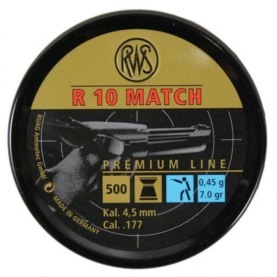 RWS R10 Match Pistol Pellets .177 4.50mm x 500
