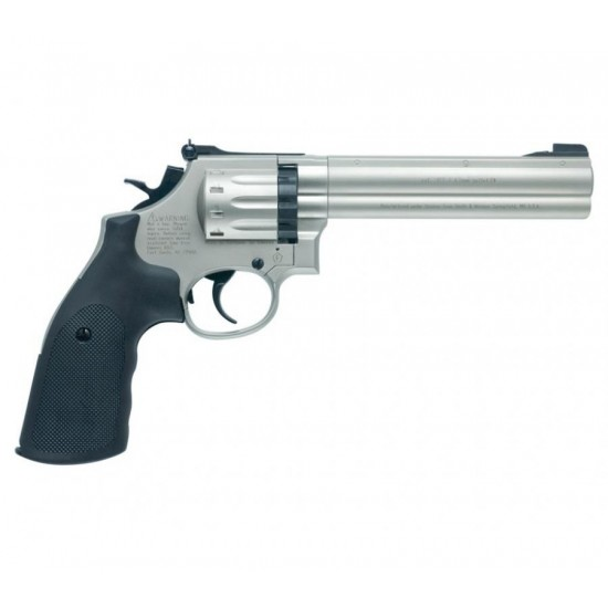 "Smith and Wesson 686 6"" Nickel .177 Pellet"
