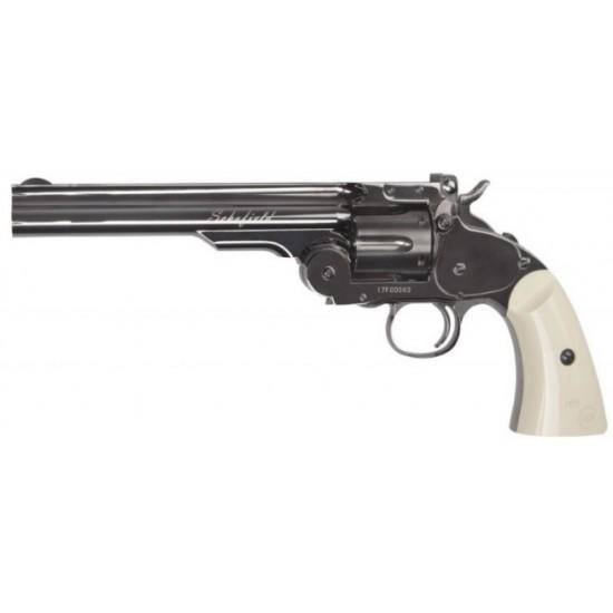 "Schofield 6"" Revolver Steel Ivory Grips BB"