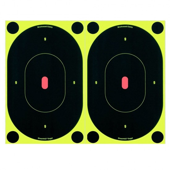 Shoot-N-C Targets 7 inch oval pack of 12