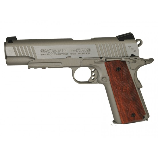 Swiss Arms 1911 Seventies Stainless - Air pistols supplied by DAI Leisure